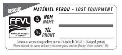 etiquette-ffvl-autocollant-pour-le-marquage-et-identification-equipement-kitesurf-marquer son materiel de kite