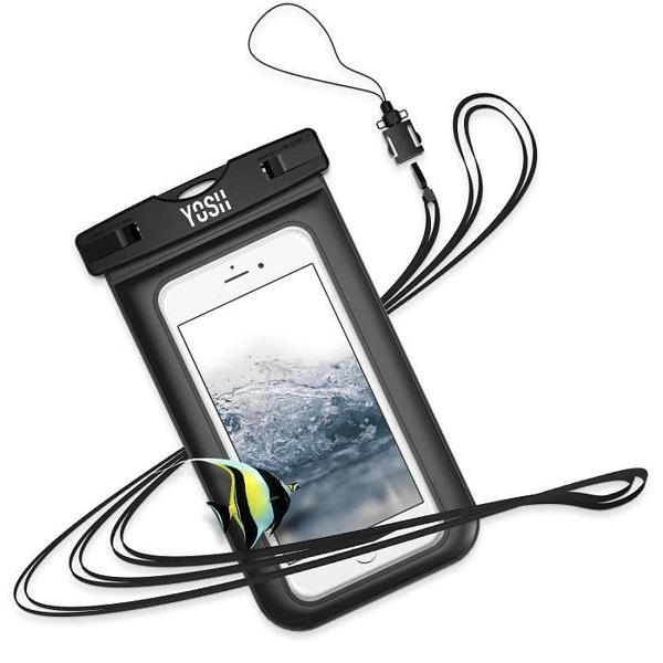 pochette étanche kitesurf mer sous eau clé voiture téléphone smartphone