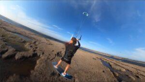 session freeride kitesurf avec Evan Netsch hatteras usa zoomkite