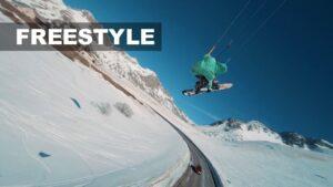 snowkite freestyle bomba video col du lautaret zoomkite