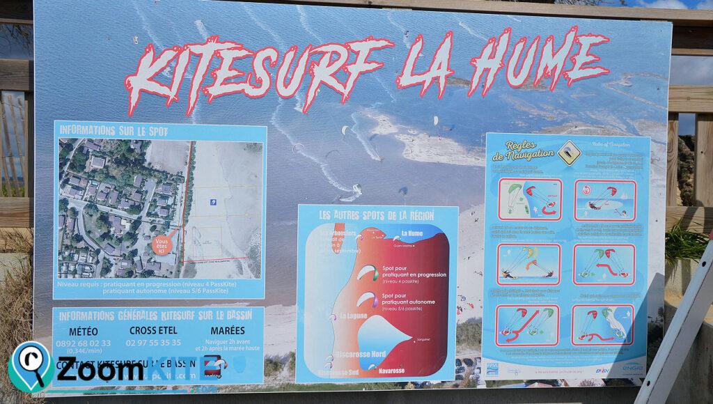 spot de kitesurf de la hume à Gujan-Mestras près de Arcachon