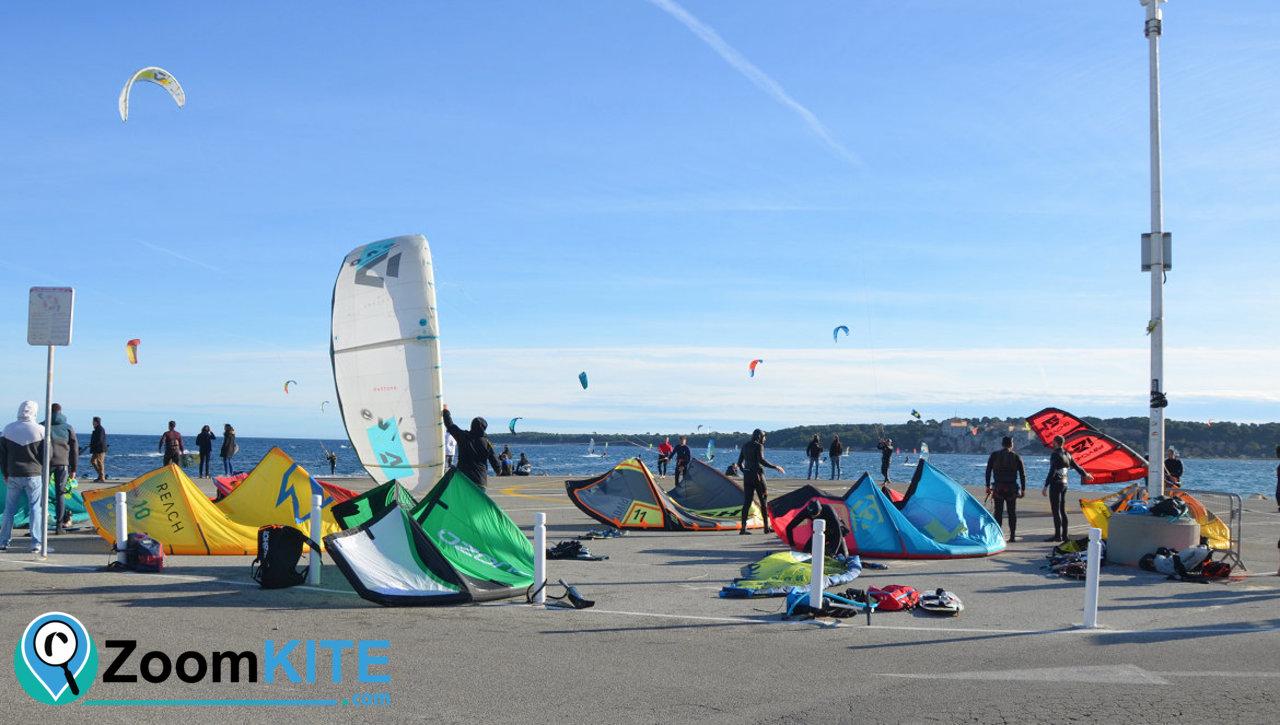 spot de kitesurf de palm beach a cannes zone technique 2021