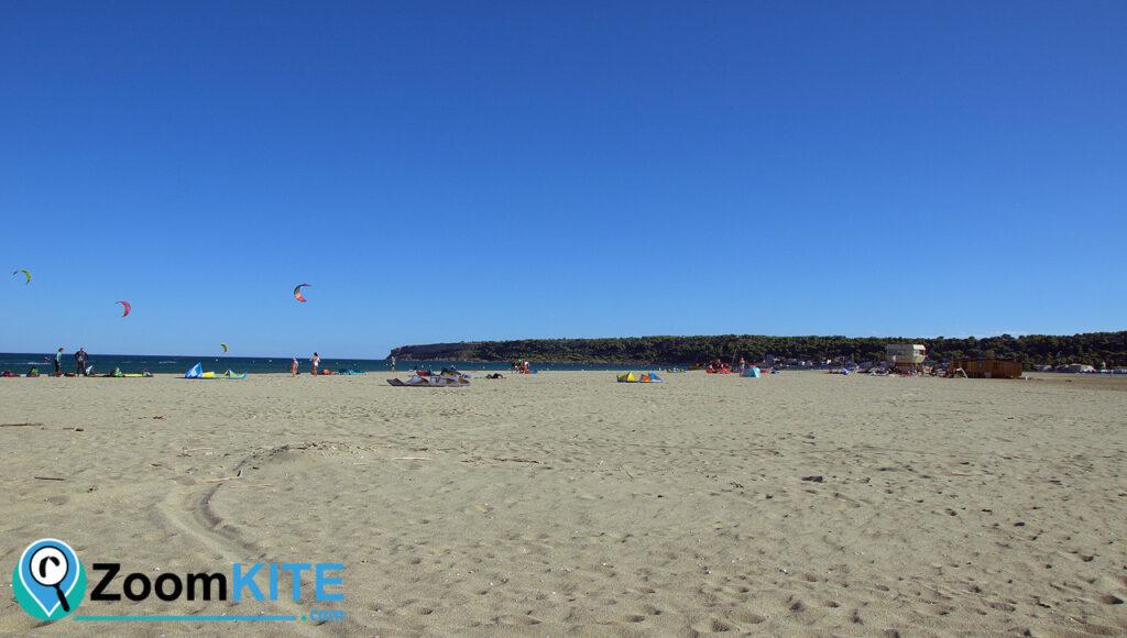 spot de kitesurf leucate falaises de la franqui zoomkite