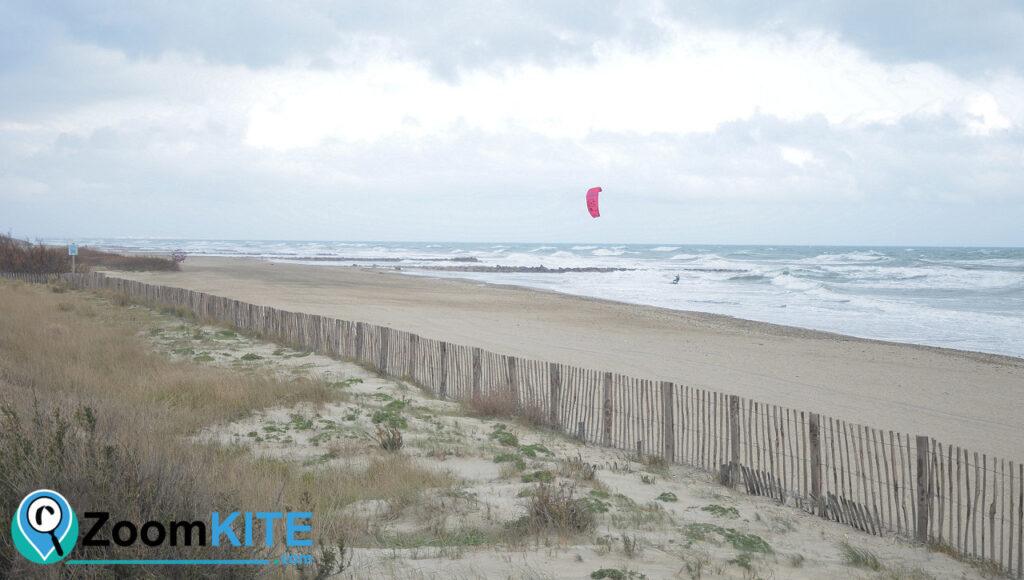 spot de kitesurf plage des aresquiers frontignan zoomkite