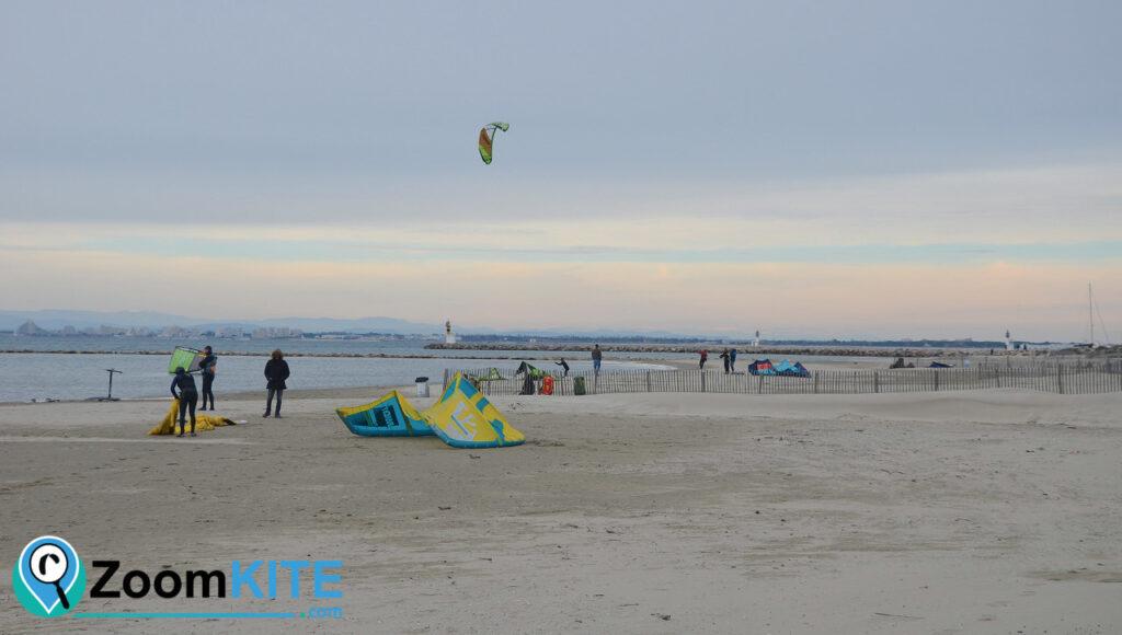 spot de kitesurf plage sud port camargue aire decollage zoomkite