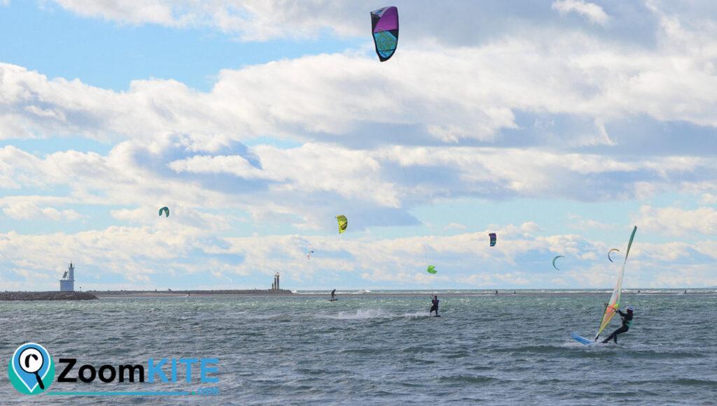 spot de kitesurf plage sud port camargue flat zoomkite