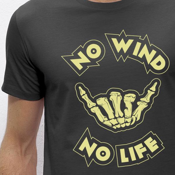 vetement avec dessin glisse no wind no life 2