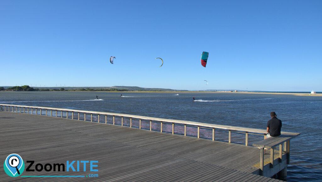 zone de kite la franqui leucate navigation dans l'étang zoomkite