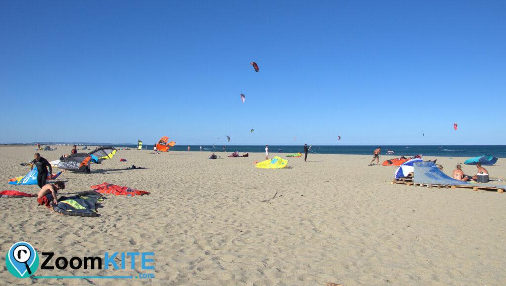 zone de kite leucate la franqui plage des coussoules zoomkite