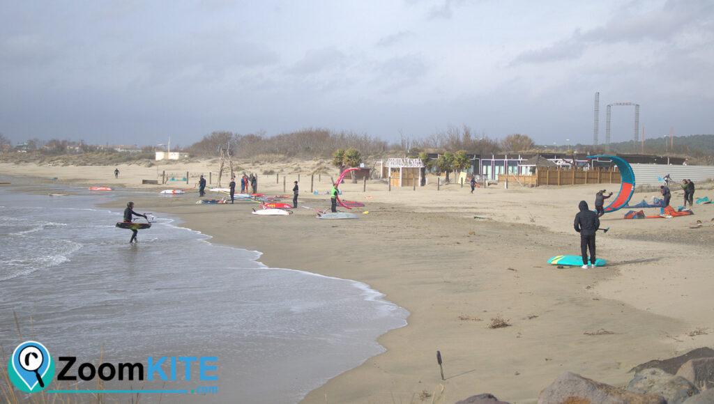 zone de kitesurf cap agde plage de richelieu zoomkite