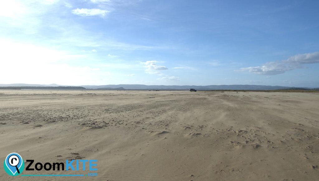 zone kite gruissans voiture sur la plage zoomkite